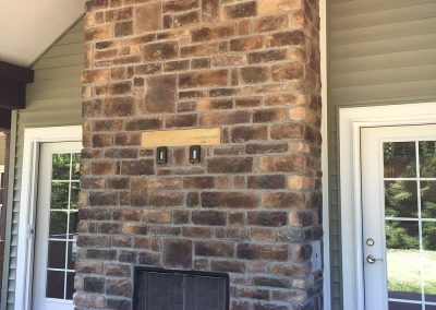 (22)-Monogram Home stone fireplace - Monogram Homes - Hebron Ohio and Westerville Ohio